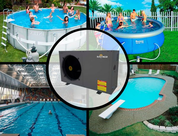 Тепловые насосы для подогрева воды в бассейне. Гарантия 5 лет, монтаж