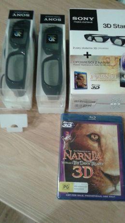 Okulary 3D SONY TDG-BR250 2-pack + film 3D bluray Opowieści z narni