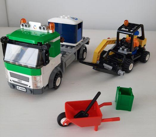 Lego city 4206 śmieciarka do recyklingu wózek widłowy