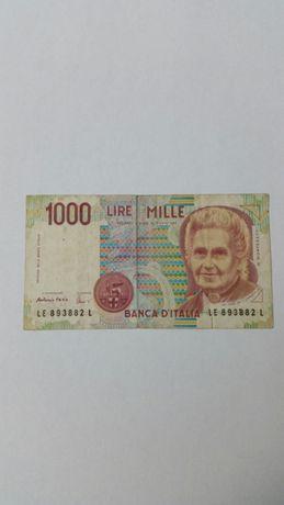 Nota de 1000 liras italianas