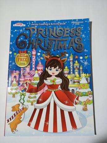 Большая раскраска для девочек Princess Christmas