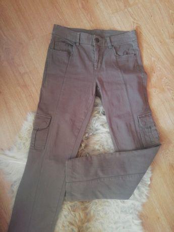 Charles Voegele piękne spodnie rurki khaki brązowe M L XL 38 40 42