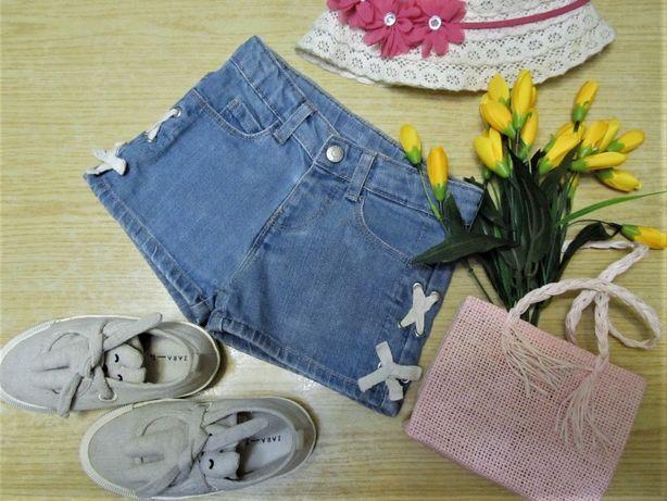 Шорты ZARA джинсовые стрейч для девочки 3-4 года