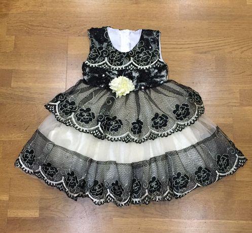 Нарядное праздничное платье на 1-2 года