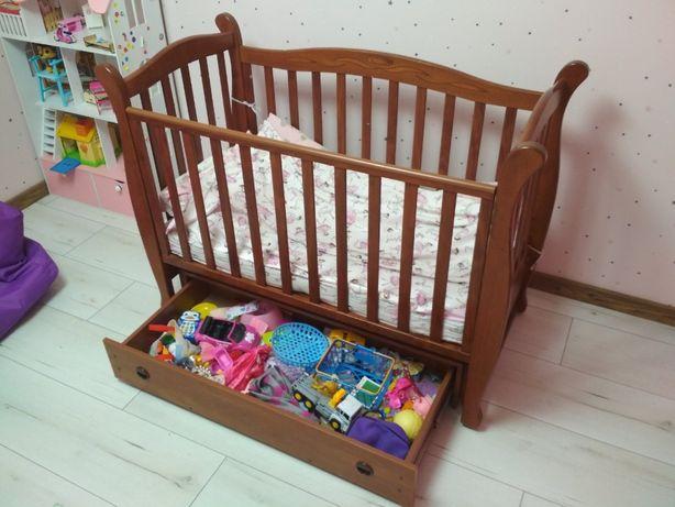 Детская кроватка Верес Соня ЛД15 c маятником и ящиком