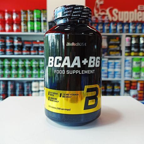 Biotech BCAA+B6 200tabletek, Aminokwasy, BCAA, Odżywki, Suplementy