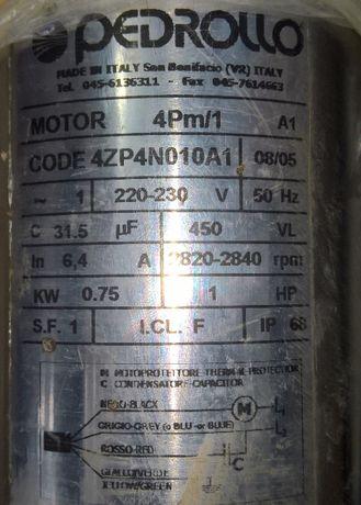 Насос для скважин, колодязя, Глубинный Pedrollo 4SR2/13-PD, кап. рем.