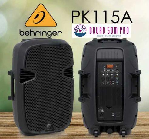 Behringer PK115A Colunas Amplificadas NOVAS c/USB MP3 e Bluetooth