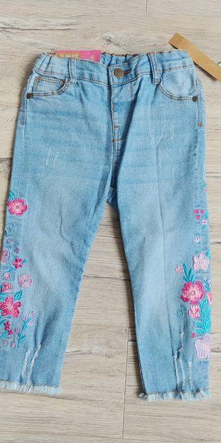 Nowe spodnie jeansowe 92 cm