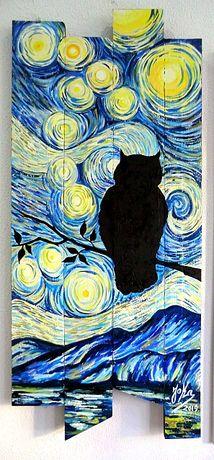Painel único 100% artesanal em madeira rústica pintada a óleo com 115x