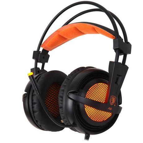 Sades A6 Игровые наушники 7.1 объемный звук гарнитура