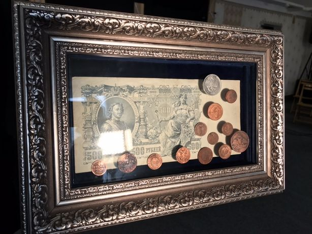 Картина з старовинних грошей
