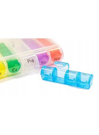 Pojemnik kasetka na leki pudełko organizer 7 dni
