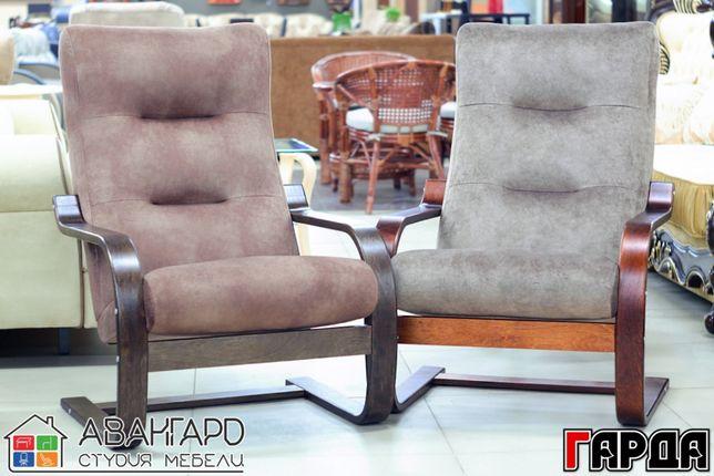 """Велюровое пружинящее кресло для отдыха в спальню / гостиную """"Гарда"""""""