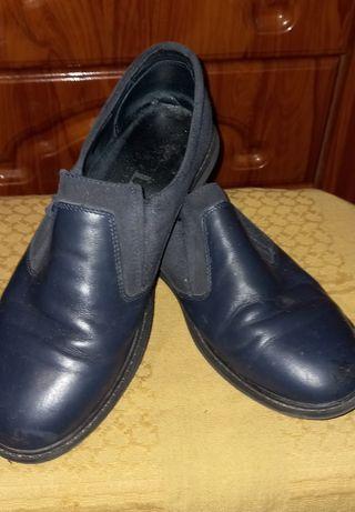 """Туфли фирменные кожаные """"Vels"""" на мальчика подростка. Р-р 37. Сменка"""