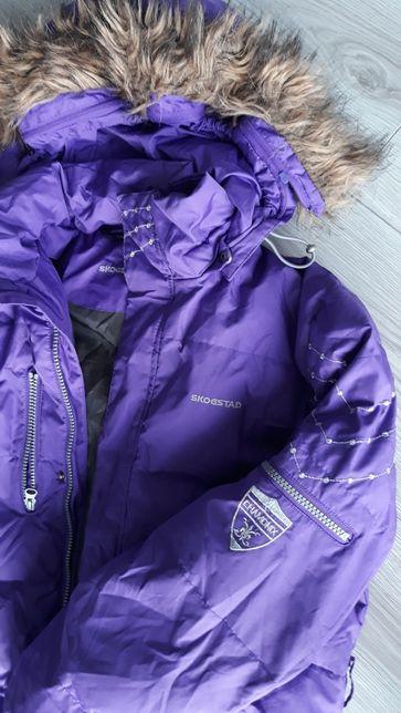 SKOGSTAD **Kurtka zimowa narciarska puch pierze roz S