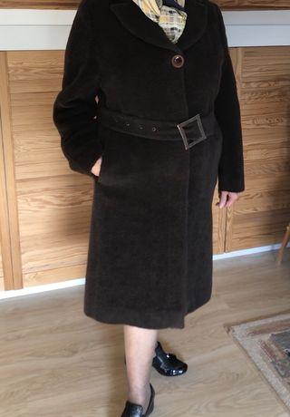 Wełniany płaszcz Getex 44 46 zimowy wełna alpaka XXL XXXL