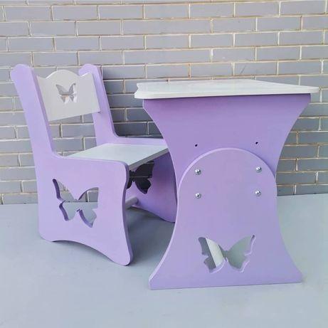 Детский стол и стул, дитячий стіл та стілець МДФ