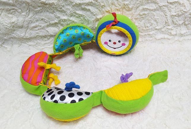 Мягкая игрушка гусеница погремушка ростомер Fisher Price