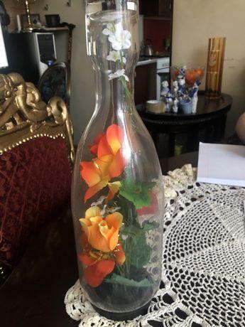 Butelka z kwiatkami