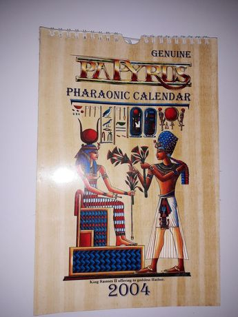 Calendário Egipcio de papiro.
