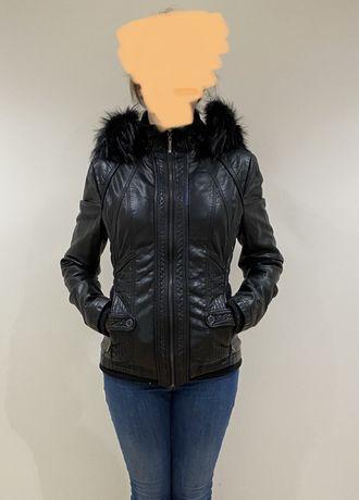 Куртка женская утепленная кожзам