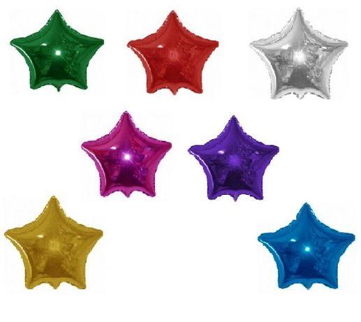 Звёзды шары фольга 23 см