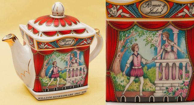 Коллекционный заварочный Чайник Ромео и Джульета фарфор SADLER Англия