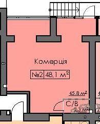 Комерція 1 поверх 48м2