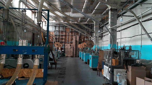 Производственная линия для изготовления бумажных стаканчиков.