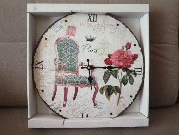 Piękny Zegar ŚCIENNY w stylu RETRO CICHY