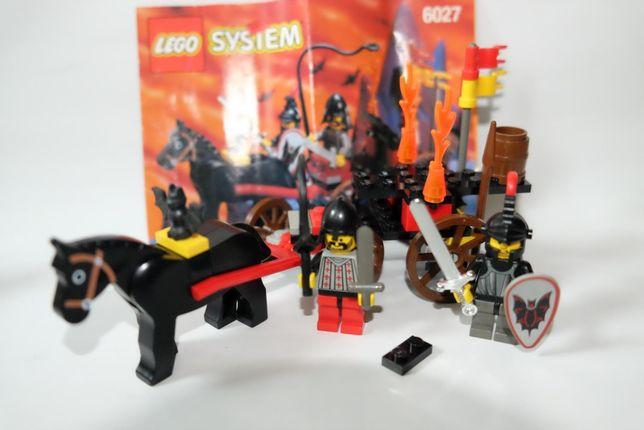 Lego Castle - rycerze - 6027 -Bat Lord's Catapult - katapulta