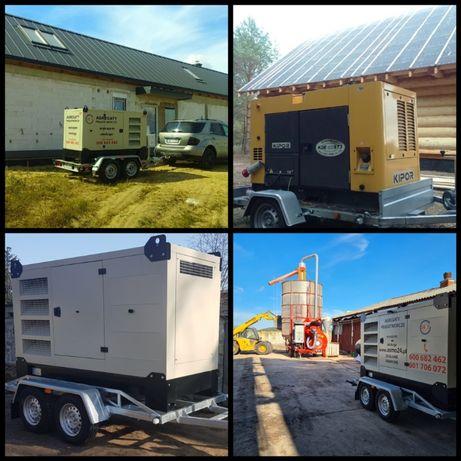 Agregat prądotwórczy 15 - 125 kva wynajem obsługa dostawa