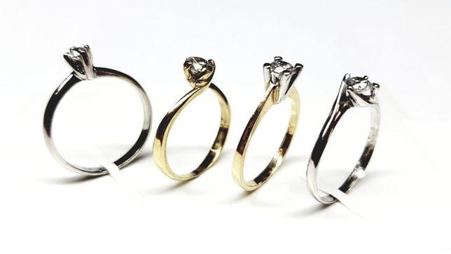 Pierścionki zaręczynowe Złoto białe i żółte