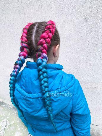 Косы брейды плетение кос с канекалоном