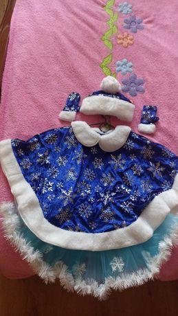 Продам нарядный костюм Снегурочки, снежинки,