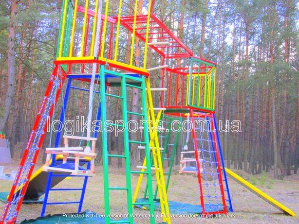 Детский спортивный комплекс, площадка игровая для двора, качели, горка