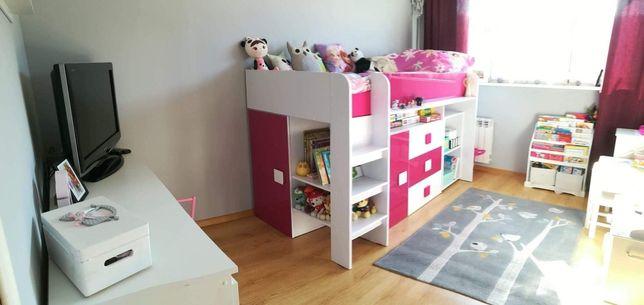 Łóżko piętrowe z antresolą i biurkiem Toledo