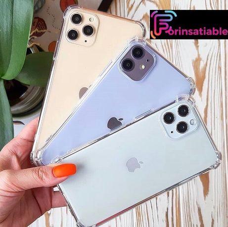 Прозрачный чехол iPhone 6 6s 7 7+ 8 8+ Plus X XS XR 11 12 mini Pro Max