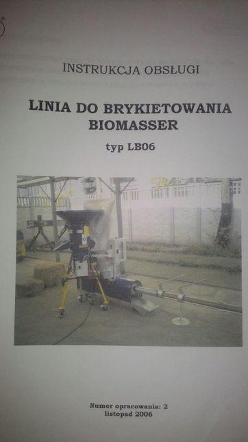 Линия брикетирования Biomasser, линия для соломы, сена прочее