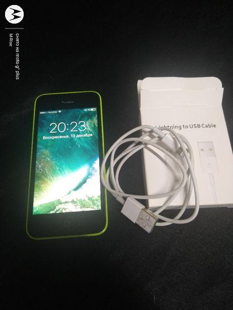 IPhone 5C 16GB A1456 зеленый из США Icloud чистый ! ios 10.3.3/Неверло