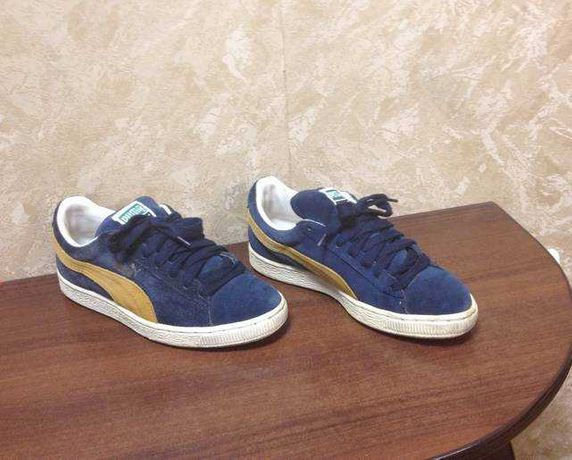 Натуральные замшевые кроссовки, мокасины Puma