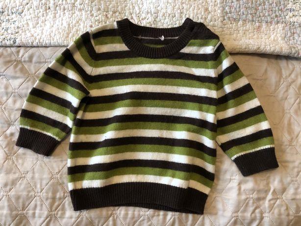 Sweterek H&M dla chlopca 74 6-9 miesiecy
