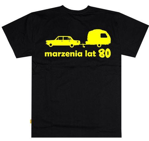 """Podkoszulek Fiat 125 P + przyczepa niewiadów """"marzenia lat 80"""""""