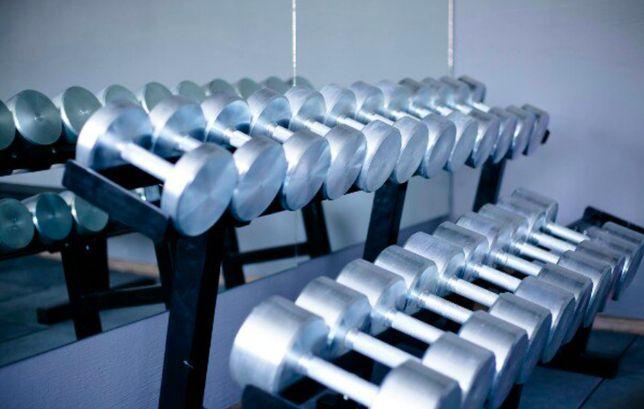 Набор гантель, ряд гантельный 10-60 кг хромированные в тренажерный зал