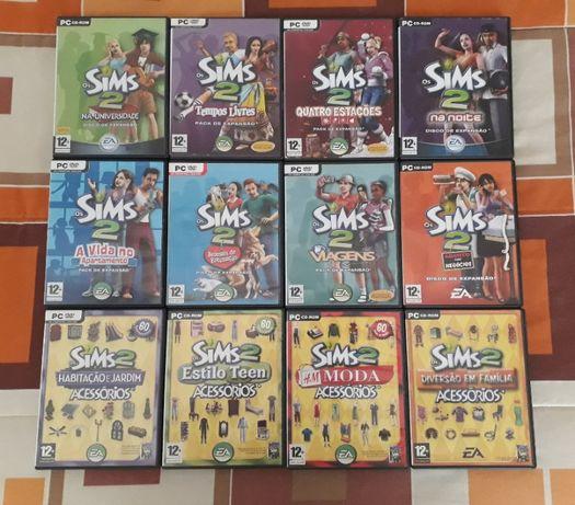Jogos PC Sims 2 (Jogo de base, Packs de Expansão e Acessórios)