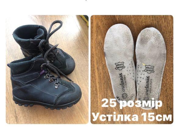 Шкіряні чобітки шкіряні