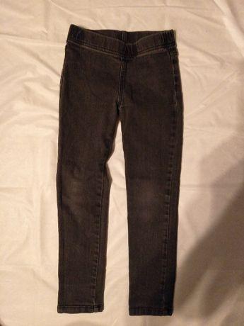 Leginsy jeansy rozm. 128 ciemne