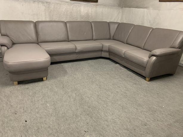 Большой кожаный диван Шкіряний диван Мягкая кожаная мебель Диван шкіра