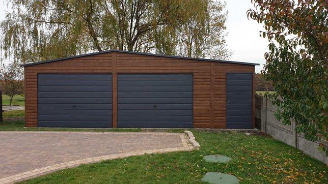 Garaze blaszane drewnopodobne 12x6